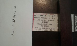 slipknot and marilen mason  tickets